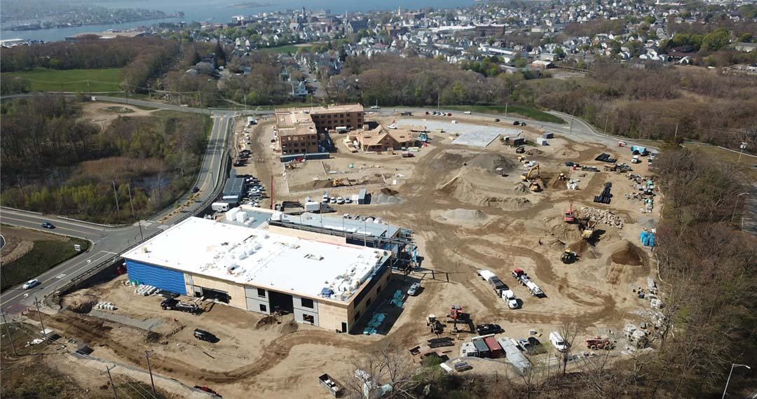 Mixed-use site work